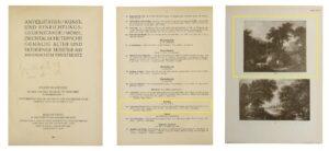 Abb. 3: Auszüge aus Katalog zur Versteigerung in der Galerie Helbing in München ab dem 24.10.1918